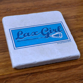 Lax Girl - Natural Stone Coaster