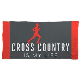 Cross Country Beach Towel My Life (Male)
