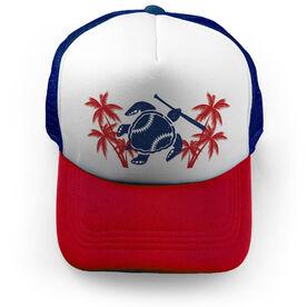 Softball Trucker Hat Turtle