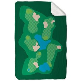 Golf Sherpa Fleece Blanket The Course