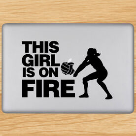 Volleyball Removable Laptop Decal This Girl Is On Fire