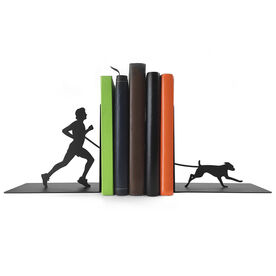 Running Bookends Runner Guy With Dog