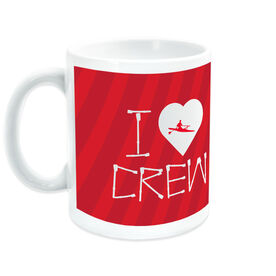 Crew Ceramic Mug I Heart (with Oars)