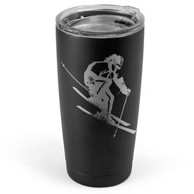 Skiing 20 oz. Double Insulated Tumbler - Female Silhouette