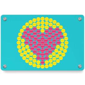 Tennis Metal Wall Art Panel - Love Ball Circle