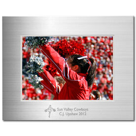 Engraved Cheerleading Frame Silver 5 x 7 with Cheer Icon