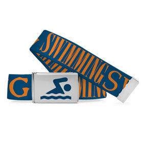Swimming Lifestyle Belt Swim Word