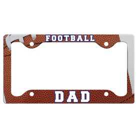 Football Dad License Plate Holder