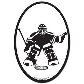 Hockey Goalie Oval Decal