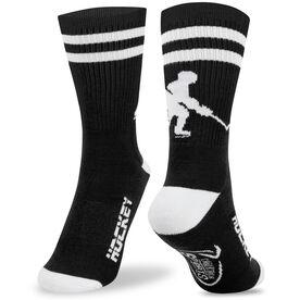 Hockey Woven Mid Calf Socks - Player (Black/White)