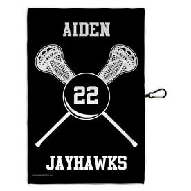 Lacrosse Bag Towels Team Crossed Sticks