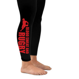 Rugby Leggings Blood Sweat Rugby Female