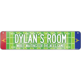 "Football Aluminum Room Sign Personalized Football Room (4""x18"")"