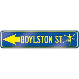 "Running Aluminum Room Sign Boylston St. (4""x18"")"