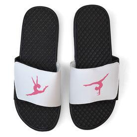 Gymnastics White Slide Sandals - Gymnastics Silhouette