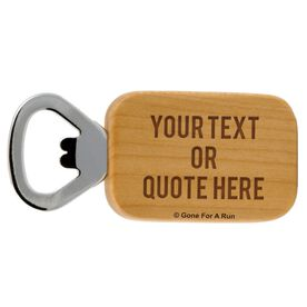 Personalized Text Maple Bottle Opener