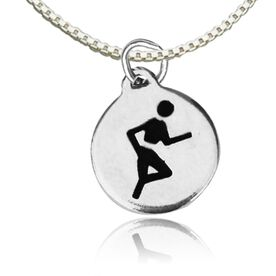 Sterling Silver Run Charm Necklace