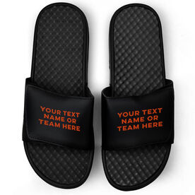 Sport Black Slide Sandals - Your Text