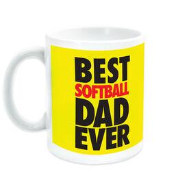 Softball Ceramic Mug Best Dad Ever