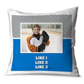 Hockey Throw Pillow Custom Hockey Photo