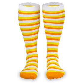 Yakety Yak! Knee High Socks - Autumn Stripes