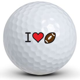 I Heart Football Golf Balls