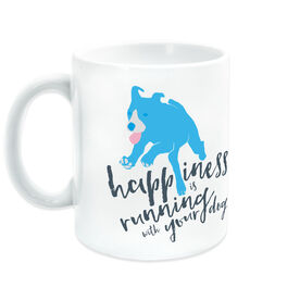 Running Ceramic Mug Happiness Is Running With Your Dog