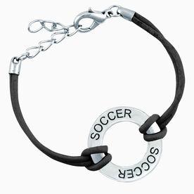 Soccer Message Ring Bracelet