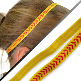 Gripband Skinny Softball Headbands - Yellow Red Arrows (Pack of 3)