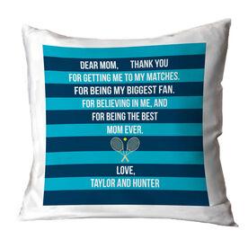 Tennis Throw Pillow - Dear Mom Heart