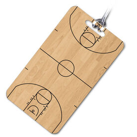 Basketball Bag/Luggage Tag Basketball Court
