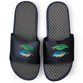 Fly Fishing Navy Slide Sandals - Stocked Up