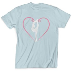 Figure Skating Short Sleeve T-Shirt - Heart Skater