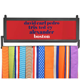 AthletesWALL Medal Display - Personalized Boston Mantra