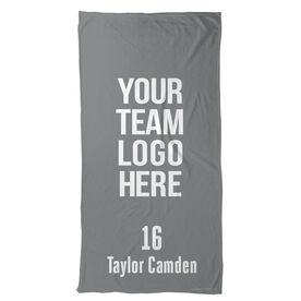 Football Beach Towel Custom Team Logo