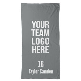 Rugby Beach Towel Custom Team Logo