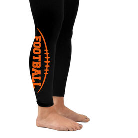 Football Leggings Football Stitches with Football