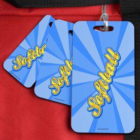 Softball Bag/Luggage Tag Varsity Softball Rays