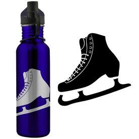 Figure Skate Silhouette 24 oz Stainless Steel Water Bottle