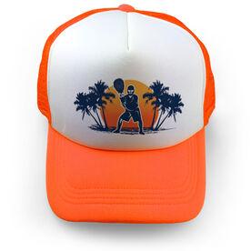 Lacrosse Trucker Hat Sunset Saves