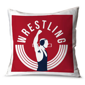 Wrestling Throw Pillow Winners Never Quit