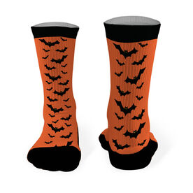 Printed Mid Calf Socks Bats