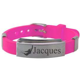 Snowboarding Silicone Bracelet Personalized Snowboarder