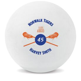 Personalized Awards Lacrosse Ball (White Ball)