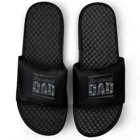 Baseball Black Slide Sandals - Baseball Dad