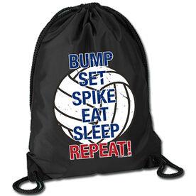 Volleyball Sport Pack Cinch Sack Bump Set Spike Eat Sleep Repeat