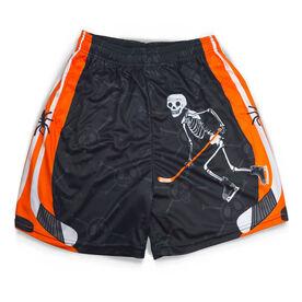 Mr. Bones Halloween Hockey Shorts