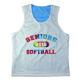 Girls Softball Racerback Pinnie Personalized Seniors Softball Rainbow
