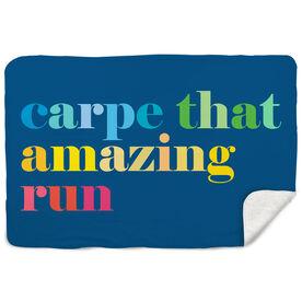 Running Sherpa Fleece Blanket - Carpe That Amazing Run