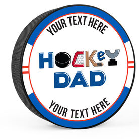 Personalized Hockey Dad Puck